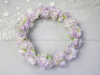 Corolla flower crown flower motif hair ornament ★ corolla ★ headdress ★ purple ★ wedding ceremony, wedding headdress hair accessories (hk03)