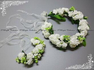 Corolla head dress (off-white) wedding flower DIAdem wouldnt Ristretto 2 point set bridal flower motif ornament ★ Corolla ★ h447