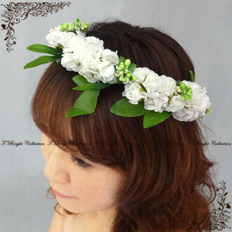 Two points of list of flower motif hair ornaments let set ★ corolla ★ headdress ★ off-white (h447)