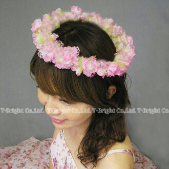 Corolla (pink) wedding flower crown flower crown flower motif hair ornament ★ headdress ★ hk02