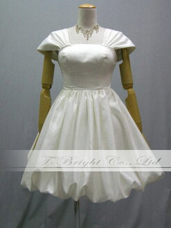 Sizes medium-length ♪ balloon skirt party dress ★ minidress ★ 51336