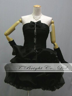 Party dress ★ minidress ★( black) 51376 softly laceup size order medium length crape material ♪ among backs