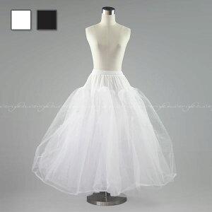 ボリューム ワイヤレス ホワイト ブラック ウエスト ウエディングドレス