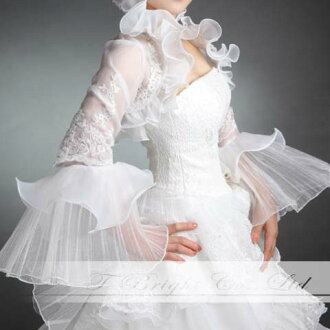 Sale Bolero long sleeve organza Bolero ★ wedding ★ S to M size ★ off-white (bo008)