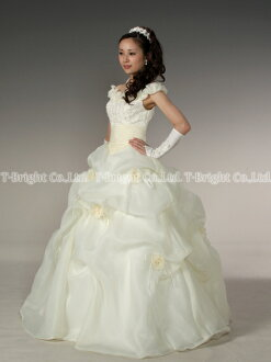 Size order wedding dress ★ princess line ★ (ivory )tb024)