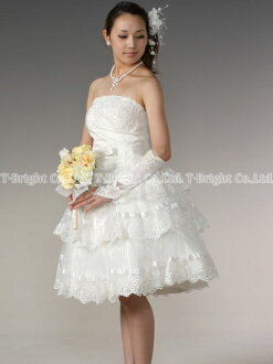 Custom wedding dress ★ short-length ★ (off-white) tb056