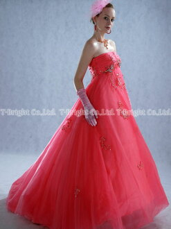 Custom dress ★ Empire line ★ (Pink) size specification! marriage ceremony dress ★ tb079
