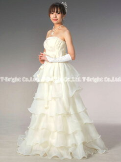 Size order wedding dress ★ empire line ★ (cream )tb102)