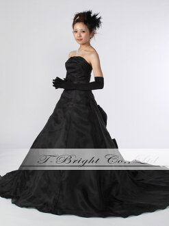 Custom color dress ★ A line ★ (black) tb124