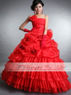 Custom color dress ★ Princess ★ (red) dress wedding ★ tb150
