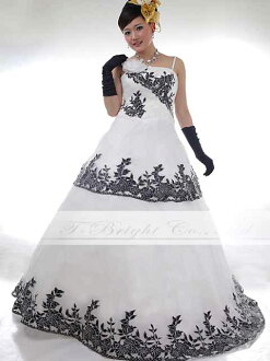 Dress size order floral cut embroidery fabric ★ the A line ★ ( white x black ) tb372