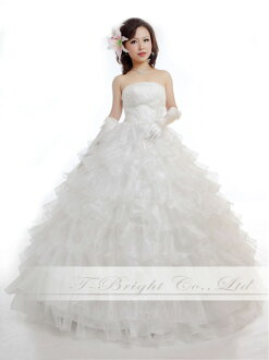 Wedding dress frill wedding dress ★ princess line ★ 9 ★ (off-white )ys53600) which is fully cute