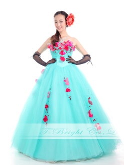 Custom color dress ★ Princess ★ (green series) Green size given wedding dress ★ tb512