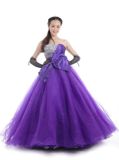 Size order colored racesless ★ princess line ★ (purple) purple size designation wedding ceremony long dress ★ tb519