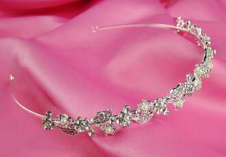 Tiara headband bridal tiara wedding bridal accessory headdress Crown wedding accessory pearl rhinestone ornament (t-0504)