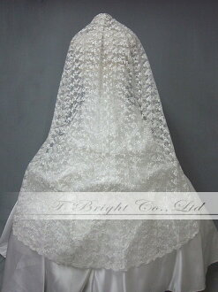 ★ off-white ★ (v0135) with pretty veil ★ comb of the sale wedding veil ★ floral design embroidery