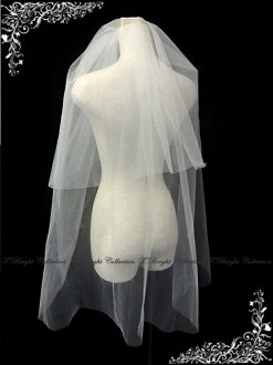 Bridal Fair * sale ◆ ◆ 50% off wedding veil ☆ comb with two-stage veil ★ medium bale ★ off-white (v147)