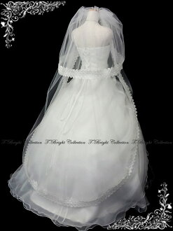 ◆ Bridal Fair * 50% off ◆ veil combs with double veil ◆ longball ◆ off-white (v148)
