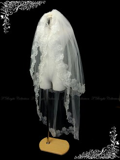 ◆ Bridal Fair * 40% off ◆ veil ☆ combs with double veil ★ longball ★ ivory (v150)