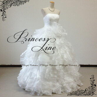 Wedding dresses ruffles a lot of cute Princess ★ 9-11 no. 11-13 ★ (off-white) 52115 FK