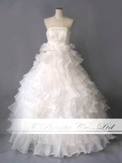 Wedding dresses neckline embroidery ♪-back lace wedding dress ★ Princess ★ off-white ★ 9-11 ★ 30022