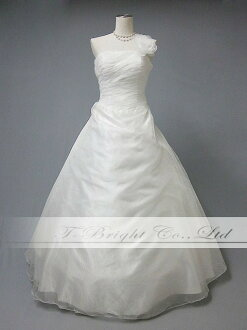 Wedding dress princess line ★ organdy ★ corsage ★ 13 ★ (off-white )ys51954)
