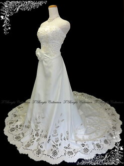 The wedding dress ★ A-line ★ long train ys52458 wedding ceremony foreign countries wedding which wedding dress ★ 9 ★ (off-white) cut lace has a cute