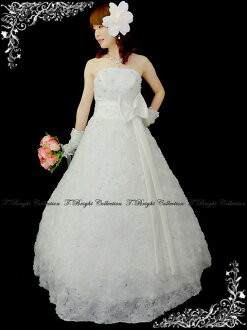 Dress r52698 where a wedding dress 11 off-white pretty flower motif A-line wedding ceremony dress bridal dress flower is cute