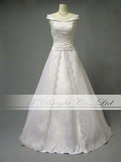 Wedding dress ★ A-line ★ off shoulder ★ 9 ★ (white )st310) which wedding dress embroidery has a cute