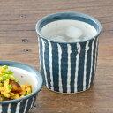 土物のフリーカップ (藍十草)    和食器/ロックカップ/湯呑み/コップ/カップ/焼酎カップ