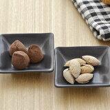 黒マット スクエアプレート SS (inBASIC BLACK)      豆皿/カフェ食器/四角いお皿/黒いお皿/シンプルモダン