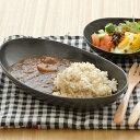 黒マット 楕円大鉢 (inBASIC BLACK)和食器/黒いお皿/カレー皿/パスタ皿/楕円のお皿/シンプル/モダン