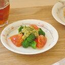 花てまり ゆらぎ3.5寸皿(赤)(12cm)    和食器/かわいい食器/女性用/小皿/しょうゆ皿/ピンク食器