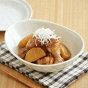EASTオリジナル 和カフェスタイル たまご型カリーボウル (粉引) (アウトレット込み)    カレー皿/パスタボウル/ボウル/楕円鉢/大鉢/白い食器