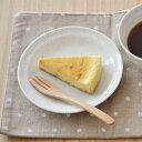 EASTオリジナル 和カフェスタイル たたきプレート16cm (粉引) (アウトレット込み)  中皿/ケーキ皿/和の中皿/和風ケーキ皿/取り皿/おうちカフェ