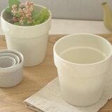 陶器製 アイボリーのプランター (natural) アウトレット雑貨/ミニプランター/鉢/テーブルポット/鉢/園芸用品