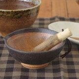 黒結晶 4寸片口すり鉢 (アウトレット込み)   和食器/和の器/離乳食/小鉢/ミニボウル/擂鉢