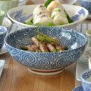 和食器 麺鉢 大 (古染たこ唐草)(アウトレット込み)和食器/さぬき丼ぶり/大ボウル/めん鉢/大鉢/どんぶり