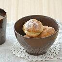 カラフル カフェオレボウル (ブラウン) (アウトレット込み)   ボウル/中鉢/カラフルな食器/カフェ食器/丼ぶり
