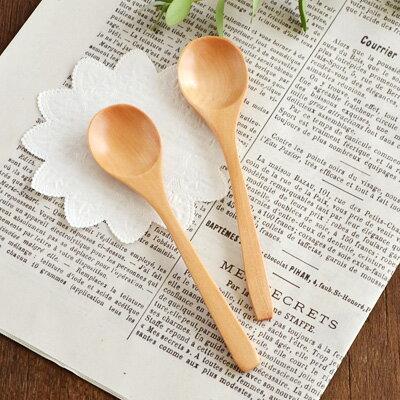 口当たりの良いなめらかな仕上がりの木製スプーン(ハンドメイド)スプーン/木製スプーン/ナチュラル/カ
