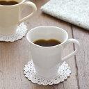 ハート型マグカップ(ホワイト)  (アウトレット)白い食器/かわいい食器/ナチュラル/シンプル/ポーセリンアート