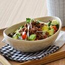 和食器 和の楕円鉢(梨地クリームイエロー)大鉢/煮