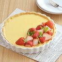 ホワイト丸パイ皿 8inc (20.2cm)     タルト皿/耐熱食器/白い食器/ホテル食器/製菓用食器/オーブンウェア