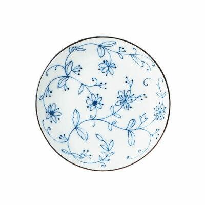 線唐草 UK三五皿 うすかる   和食器/花柄/小皿/取り皿/皿/白磁