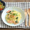 EASTオリジナル frill(フリル) ディナープレート (ライトブルー・青磁)      パスタ皿/お皿/カフェ食器/カレー皿/中皿/水色
