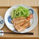 藍三昧 (花友禅) 8寸皿 (アウトレット込み)   お皿/大皿/和食器/藍染/プレート/盛り皿