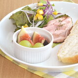 ホワイトスフレカップ (8cm)    白い食器/おうちカフェ/オーブン使用可能/ココット/