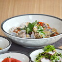 黒ボーダー ボウル L (25cm) (アウトレット込み) 和食器/カレー皿/パスタ皿/大皿/ボウル/美濃焼/煮物鉢