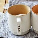 マグカップ型 キャニスター SALT(蓋別売り)カップ / キャニスター / 手付き / 丸型 / 調味料入れ / 容器 / スタッキング