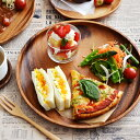 木製 アカシアプレート 丸30cm   木製/食器/皿/大皿/木のお皿/木の食器/トレー/トレイ/お盆